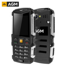 AGM M1 IP68 waterproof shockproof Dustproof mobile phone 2.0 inch 3G WCDMA Dual SIM 128MB+64MB 2.0MP Camera 2570mAh Rugged Phone(China)