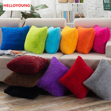 BZ024 Luxury Cushion Cover Pillow Case Home Textiles supplies Lumbar Pillow Plush solid color pillows Case chair seat
