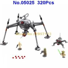 05025 320pcs Star Wars Homing Spider Droid Master Lepin Building Block Compatible 75142 Brick Toy(China)