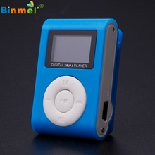 MP3 Player LCD Screen 5Colors Mini USB Clip Support 32GB Micro SD TF Card Wholesale price_KXL0612(China)
