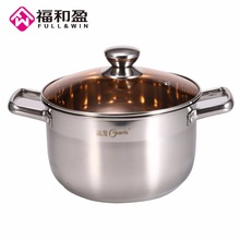 Stainless Steel Extra Bottom Extra High Steamer Pot Cookware Food Induction Soup&Stock Pots Home Kitchen Cooking Tools 24 cm(China)