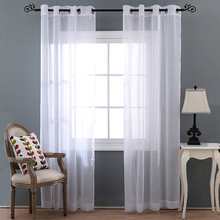 byetee White Gauze Curtain Living Room Finished Product Screens Custom Balcony Bedroom Window Cloth Tulle Sheer Voile Curtains