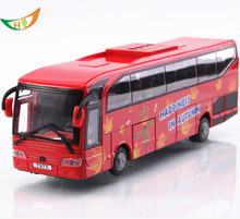 Big bus Toy model metal car light school bus 5 acousto optical open the door kids toys Christmas gift(China)
