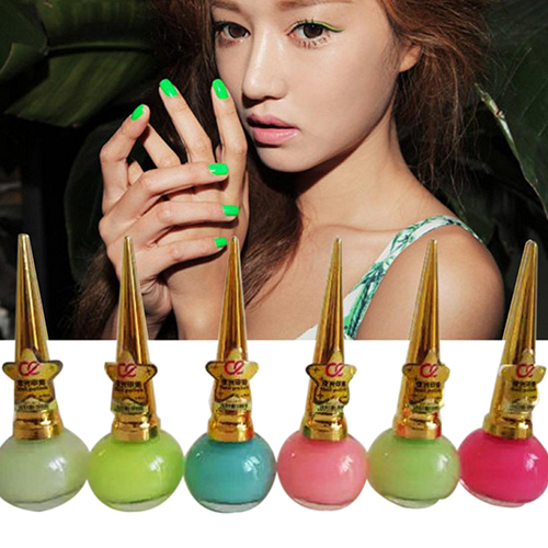 2016 New Women Candy Color Luminous Fluorescent Matte Nail Polish Glow Neon Nail Varnish(China)