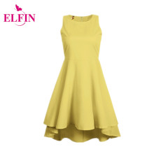 NEW classical brief dress women party dresses feminines  sleeveless O-neck solid dinner dress LJ3265R