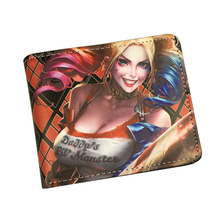 DC Comics Marvel Wallets Movie Suicide Squad Wallet Women Men Student Anime Purse Bag Batman Harley Quinn Wallet For Teenager(China)