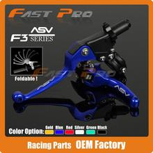Aluminum ASV F3 Series 2ND Clutch & Brake Folding Lever Fit Most Motorcycle ATV Dirt Pit Bike WR KLX CRF YZF RMZ