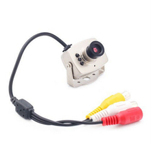 Brand New Mini Wired Audio Mic CCTV Camera Security Color 940nm Night Vision Infrared Video Cam COMS 3.6mm lens(China)