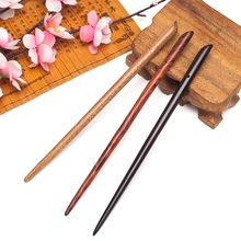 Ancient simple natural wood hair sticks pins diy Casual sandalwood head jewelry accessories Ornaments for women hairwear