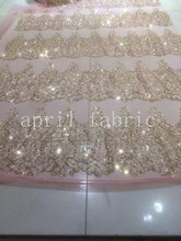 ap100 champagne gold flower nude net no 61 mesh breathable lace fabric for  wedding dress/party/lady dress/home decoration!