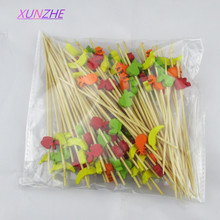 XUNZHE 12 Cm 100pcs Fruit shape fruit fireworks toothpick interesting dessert cocktail sign wedding decorative party supplies(China)