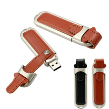 Fashion leather case usb flash drive 64GB pen drive 32GB pendrive real capacity memory stick 4GB 8GB 16GB Flash disk