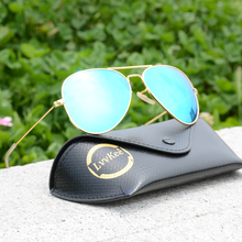 2017 new men women glass G15 Driving High quality lens Sunglasses pink Blue Green Gold red outdoor Gafas Aviator 3025 rays