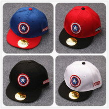2017 Cartoon Hat Captain American Kids Summer Hats For Boys Fashion Sports Cap Children Boys Mesh Baseball Snapback Caps Hats