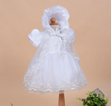 Fashion girls easter outfits 3 pieces set beaded white lace girls easter baby dresses