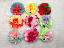 "20pcs/lot New Arrival 3"" Infant toddler baby girl Rose Fabric lace Flowers without clip 9Colors,Hair Acessories"