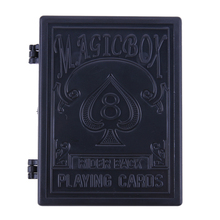 Magic Training Toy Black Plastic Restore Box Broken Paper Card Case Close-up Magic Tricks Props Toys(China)