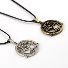 6/pcs MS Jewelry Fullmetal Alchemist Choker Necklace Magic Circle Pendant Men Women Gift Anime Accessories