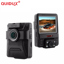 QUIDUX Novatek 96655 Car DVR Dual Camera GPS Tracker Super HD 1296P Night Vision Dual Lens Dash Cam 150 Degree Angle Lens Camera(China)