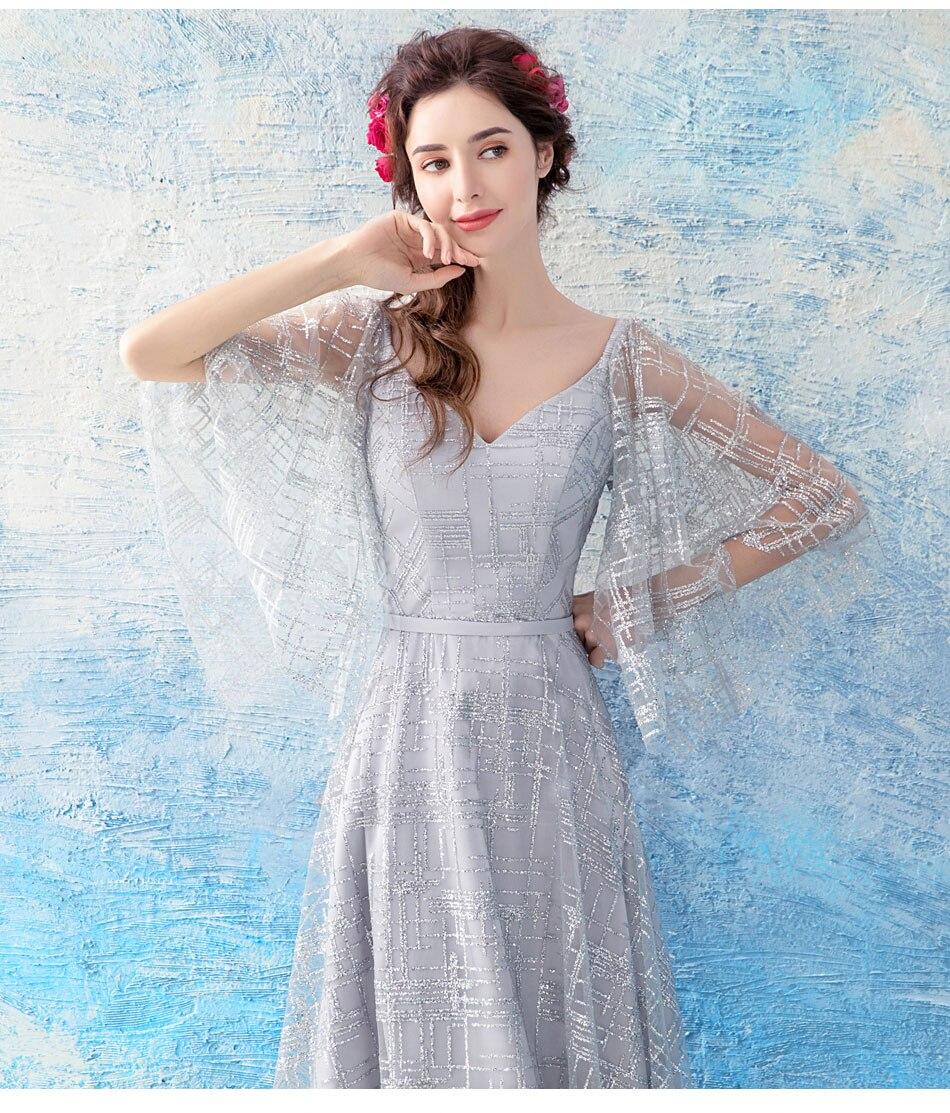 Hõbedane kleit nahkhiirevarrukatega