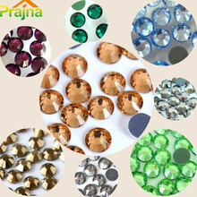 Prajna DIY 2MM 2880PCS Rhinestone Crystal Stickers Iron Nail Art Hotfix Jewelry Clothes Applicator Natural Stones Car Wedding D1