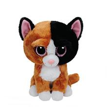 1pc 18cm Hot Sale Ty Beanie Boos Big Eyes Cat Plush Toy Dolls Soft Stuffed Animal Doll Cute Baby Kids Toy Children Birthday Gift(China)