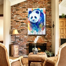 The Cute Panda Chinese Oil Painting Handpainted Picture Have Ready Hang On Wall Large Wall Pictures For Living Room