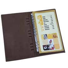 Restaurant Menu Cover 7 Color KTV Hotel PU Leather Menu Holder Advertising Folder with Crazy Quality Accept Customized Order