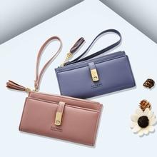 Fashion Zipper & Hasp Handbags Trend match Tassel Ladies Wallets Card Holders Coins Change Purse Women Long Clutch (JY605-1)