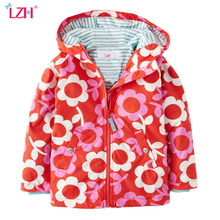 LZH Baby Girls Jacket For Girl Raincoat Coat Kids Boys Warm Outerwear Coat 2017 Spring Autumn Girls Trench Coat Children Clothes