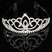 18 styles Fashion rhinestone crystal tiara Bride crown wedding accessories