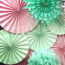 Decorative Crafts Paper Fan Wedding Decorations Happy Birthday Party Kids Baby Shower Favors Supplies Panduola Round Paper Fan