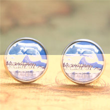 10pairs/lot Penguin earring, penguins on the An iceberg  earring Glass Photo Wildlife  earring