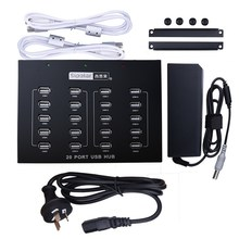 Factory Supplied Battery Powered Multi 20 Port HUB, PCB Terminal for USB Hub with Tablet Charger(China)
