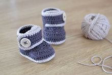 2016 new Crochet baby booties baby boys boots handmade crochet baby shoes baby shower gift blue newborn boots size: 9cm,11cm