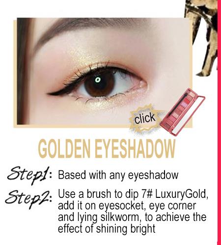 19 golden eyeshadow