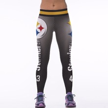 Kaywide 2017 GYM American football theme 3D printed sportswear Leggings Yoga fitness pants women Running Tights workout STEELERS