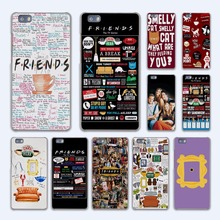 FRIENDS FUNNY TV SHOW LOGO Best Friends Forever design hard transparent Case Cover for Huawei P10 P8 P9 lite P7 Mate 7 8 Mate9 M(China)