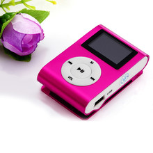 2016 Brand New Mini USB Clip MP3 Player LCD Screen Support 32GB Micro SD TF Card Hot Pink Comfortable Natural