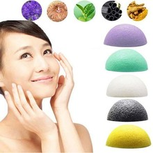 1 X Hot Selling Natural Konjac Konnyaku Facial Puff Face Wash Cleansing Sponge Green Makeup Beauty Tools
