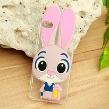 Cases for Apple iPhone 5 5S 5G 55S Cover iPhone SE 6C iPhone55s Cell Phone Skin Housing Soft TPU Cute Rabbit Protective Holster