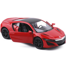 New 1:36 Scale Honda Acura NSX Sport Car Model Die cast Metal Toy With Pull back For Kids Birthday Gift Collection Free Shipping