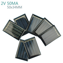 Aoshike 10Pcs Solar Panels Battery Power Solars Charging DIY Rechargeable Batteries 2V 50MA 50x34MM Solar Panel(China)