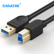 SAMZHE USB3.0 Square Opening Extension Cable Printing Data Cable Hard Drive Disk Connecting Cable 28AWG Zinc-plated Copper USB(China)