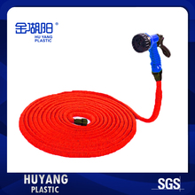 Free Shipping 2017 25-50FT Flexible Expandable Red Garden Water Hose Pipe With Blue Gun For Watering Flowers/Washing Car