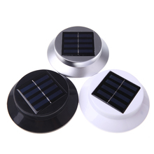 3pcs white LEDs Solar-powered Light Polycrystalline Solar Panel Rechargeable Waterproof Environmental-friendly for Garden Yard