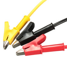 3 Color Alligator Clips 15A Banana Plug to Power Supply Test Crocodile Clip Cable Lead Copper wire PVC Connectors(China)