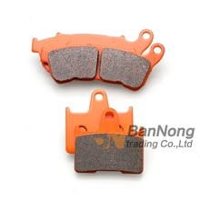 Motorcycle carbon fibre Rear Brake Pads Harley sportster 883 1200 XL L/N/C/R/T/X 2014-2016 - BanNong trading Co.,Ltd Store store