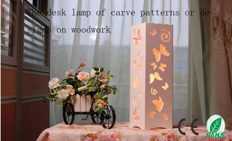 The butterfly of carve patterns or designs on woodwork hollow out modern interior decoration lamp,table lamp,5W LED abajur<br><br>Aliexpress