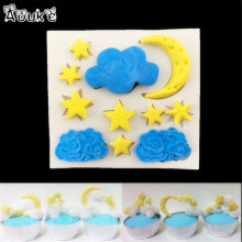 Cloud Star Moon Shape Fondant Cake Silicone Mold DIY Candy Cookie Cupcake Molds Cake Decorating Tools Baking Biscuits Mould D176(China)